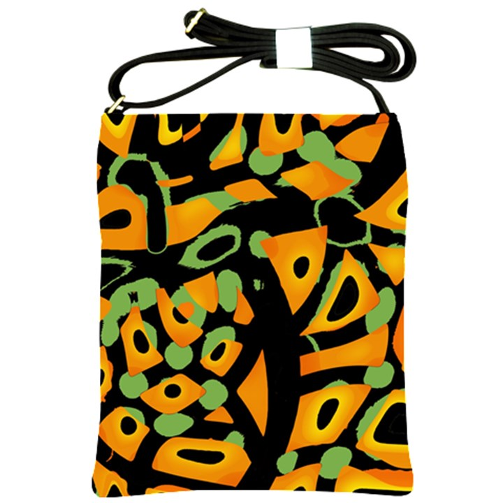 Abstract animal print Shoulder Sling Bags