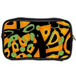 Abstract animal print Toiletries Bags Front