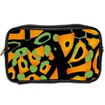 Abstract animal print Toiletries Bags 2-Side Back