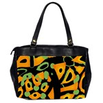 Abstract animal print Office Handbags (2 Sides)  Back