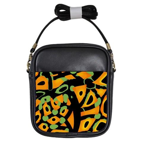 Abstract animal print Girls Sling Bags
