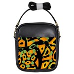 Abstract animal print Girls Sling Bags Front