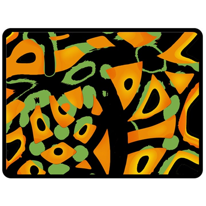 Abstract animal print Fleece Blanket (Large)