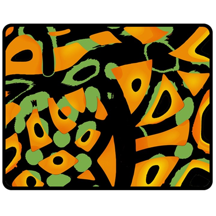 Abstract animal print Fleece Blanket (Medium)