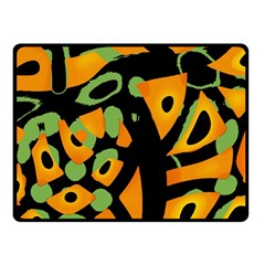 Abstract Animal Print Fleece Blanket (small)