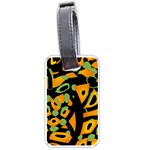 Abstract animal print Luggage Tags (Two Sides) Front