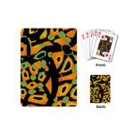 Abstract animal print Playing Cards (Mini)  Back