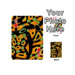 Abstract animal print Playing Cards 54 (Mini)  Front - Heart5