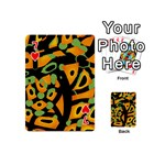 Abstract animal print Playing Cards 54 (Mini)  Front - Heart7