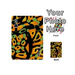 Abstract animal print Playing Cards 54 (Mini)  Front - Club3