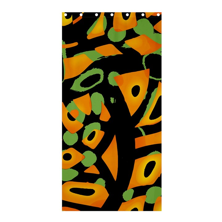 Abstract animal print Shower Curtain 36  x 72  (Stall)