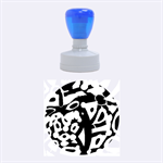 Abstract animal print Rubber Round Stamps (Medium) 1.5 x1.5  Stamp
