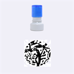 Abstract animal print Rubber Round Stamps (Small) 1.12 x1.12  Stamp