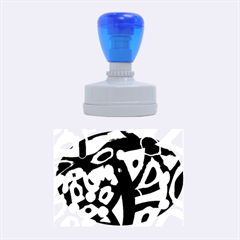 Abstract animal print Rubber Oval Stamps