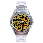 Abstract animal print Stainless Steel Analogue Watch Front