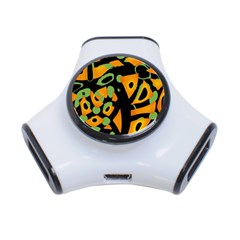 Abstract Animal Print 3 Port Usb Hub