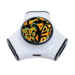 Abstract animal print 3-Port USB Hub Front