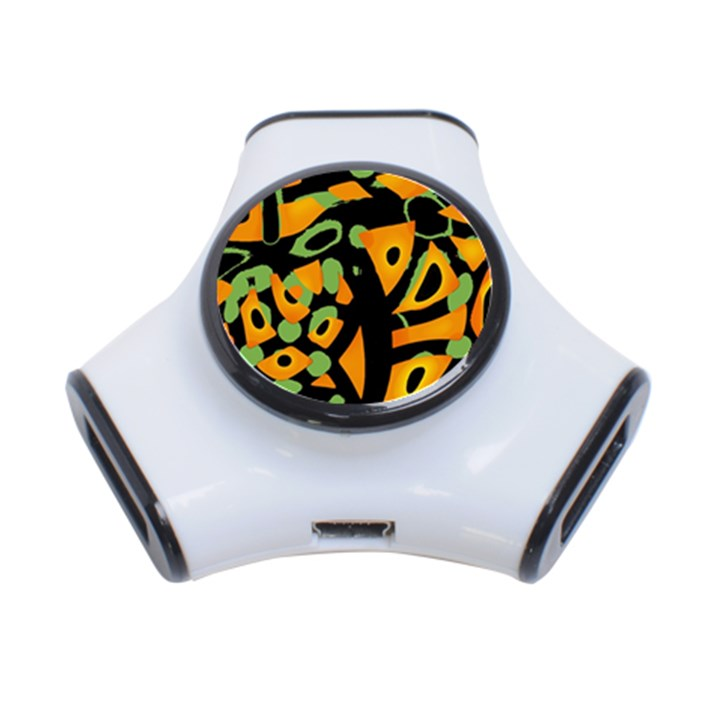 Abstract animal print 3-Port USB Hub