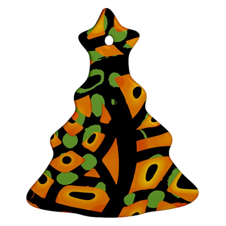 Abstract animal print Christmas Tree Ornament (2 Sides)