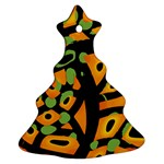 Abstract animal print Christmas Tree Ornament (2 Sides) Back