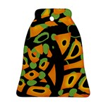 Abstract animal print Bell Ornament (2 Sides) Back