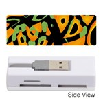 Abstract animal print Memory Card Reader (Stick)  Front