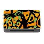 Abstract animal print Memory Card Reader with CF Front