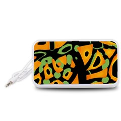 Abstract animal print Portable Speaker (White)