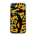 Abstract animal print Apple iPhone 4 Case (Clear) Front