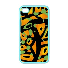 Abstract animal print Apple iPhone 4 Case (Color)