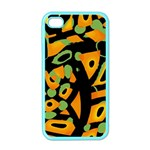 Abstract animal print Apple iPhone 4 Case (Color) Front