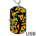 Abstract animal print Dog Tag USB Flash (One Side) Front