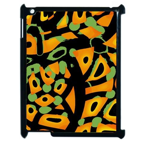 Abstract animal print Apple iPad 2 Case (Black)