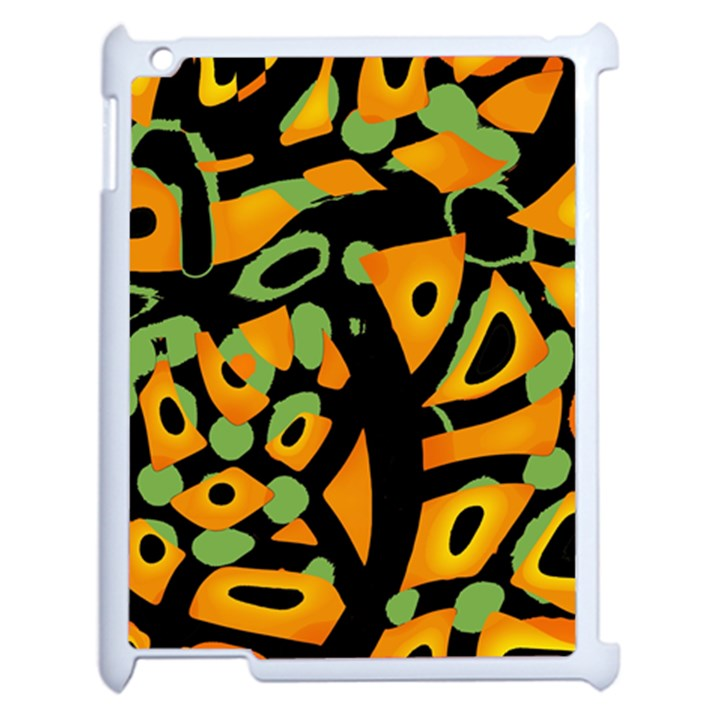 Abstract animal print Apple iPad 2 Case (White)