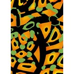 Abstract animal print LOVE Bottom 3D Greeting Card (7x5) Inside