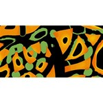 Abstract animal print Laugh Live Love 3D Greeting Card (8x4) Front