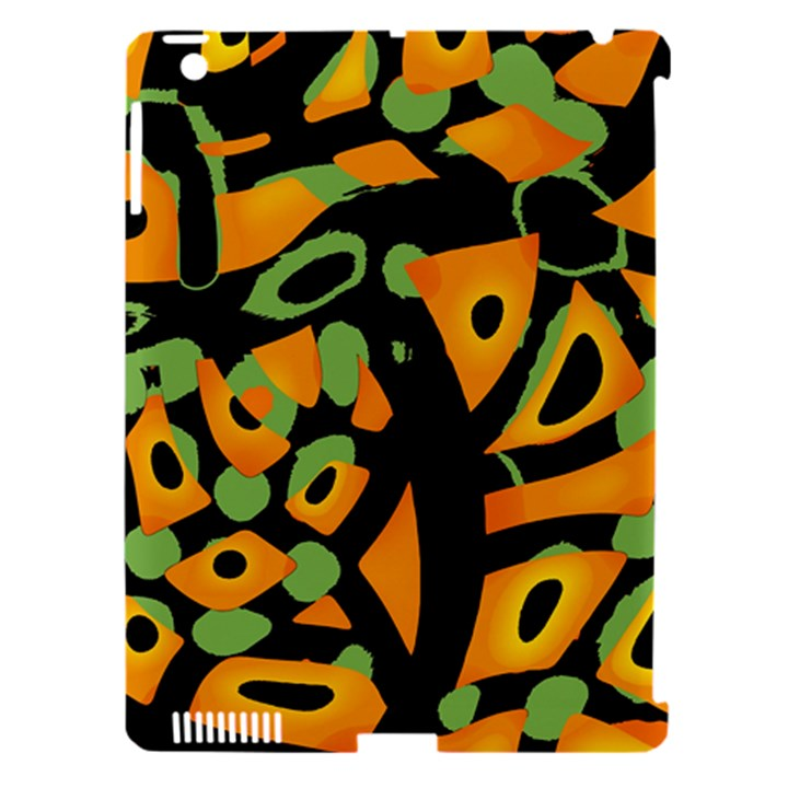 Abstract animal print Apple iPad 3/4 Hardshell Case (Compatible with Smart Cover)