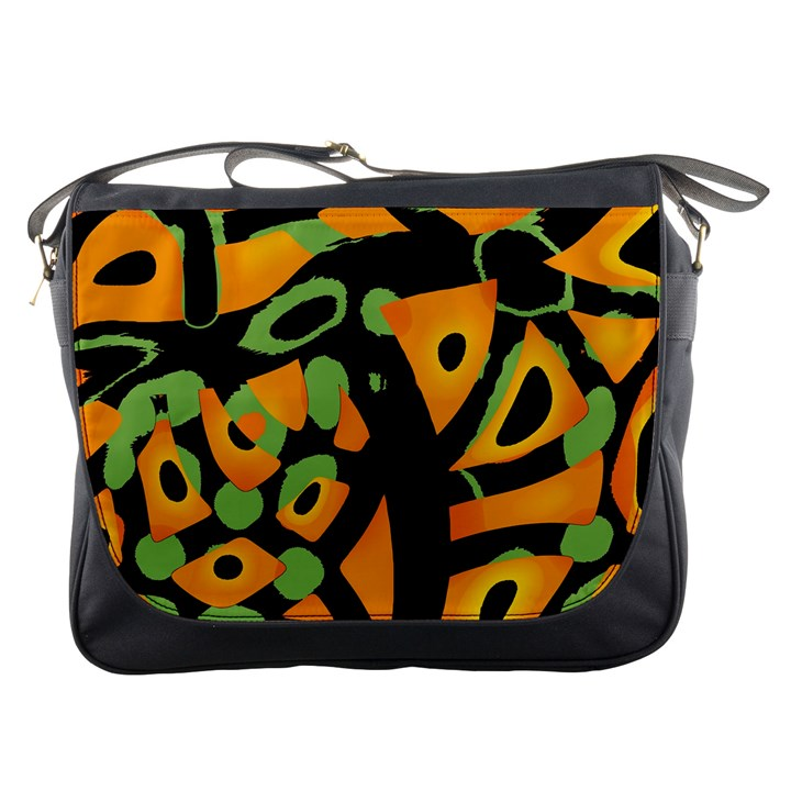 Abstract animal print Messenger Bags