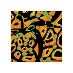 Abstract animal print Acrylic Tangram Puzzle (4  x 4 ) Front