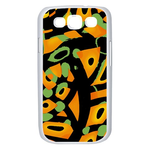 Abstract animal print Samsung Galaxy S III Case (White)