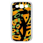 Abstract animal print Samsung Galaxy S III Case (White) Front