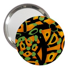 Abstract animal print 3  Handbag Mirrors
