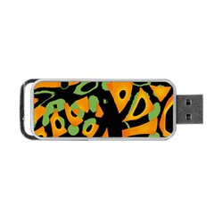 Abstract Animal Print Portable Usb Flash (two Sides)