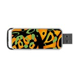 Abstract animal print Portable USB Flash (Two Sides) Back
