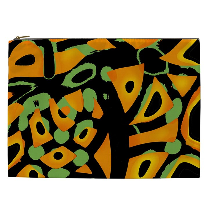 Abstract animal print Cosmetic Bag (XXL)