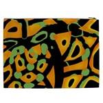 Abstract animal print Cosmetic Bag (XXL)  Back