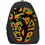 Abstract animal print Backpack Bag Front