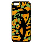 Abstract animal print Apple iPhone 5 Seamless Case (Black) Front