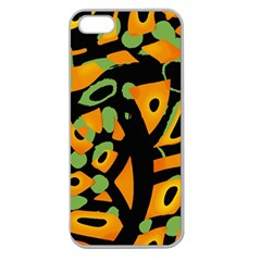 Abstract Animal Print Apple Seamless Iphone 5 Case (clear)