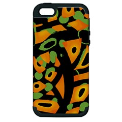 Abstract animal print Apple iPhone 5 Hardshell Case (PC+Silicone)